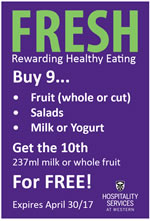 FRESH Fruit/Salad & Dairy